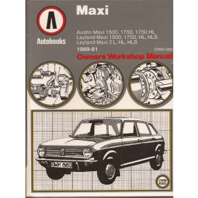Austin Maxi Owners Workshop Manual K. Ball  Benzine Autobooks 69-81 ongebruikt   Engels
