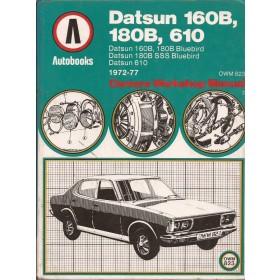 Datsun 160B/180B/610 Owners Workshop Manual K. Ball  Benzine Autobooks 72-77 met gebruikssporen   Engels