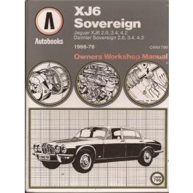 Jaguar/Daimler XJ6/Sovereign Owners Workshop Manual K. Ball  Benzine Autobooks 68-79 met gebruikssporen   Engels