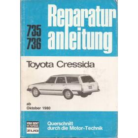 Toyota Cressida Querschnitt Reparaturanleitung A. Bucheli  Benzine Verlag Bucheli 80-84 met gebruikssporen   Duits