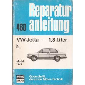 Volkswagen Jetta Querschnitt Reparaturanleitung A. Bucheli 1300 Benzine Verlag Bucheli 79-82 met gebruikssporen   Duits