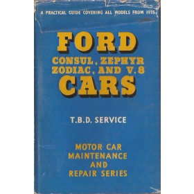 Ford Consul/Zephyr/Zodiac T.B.D. Service     35-60 met gebruikssporen   Engels
