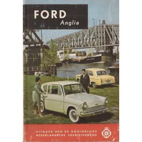 Ford Anglia Technische gegevens en praktische wenken H. Bouvy  Benzine ANWB 60 ongebruikt   Nederlands