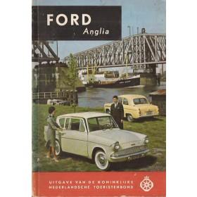 Ford Anglia Technische gegevens en praktische wenken H. Bouvy  Benzine ANWB 60 met gebruikssporen   Nederlands