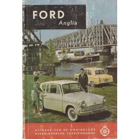 Ford Anglia Technische gegevens en praktische wenken H. Bouvy  Benzine ANWB 60 met gebruikssporen lichte vochtschade, met notities  Nederlands