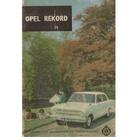 Opel Rekord A Technische gegevens en praktische wenken H. Bouvy  Benzine ANWB 65 met gebruikssporen   Nederlands