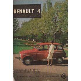 Renault 4 Technische gegevens en praktische wenken P. Bos  Benzine ANWB 63 met gebruikssporen   Nederlands