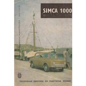 Simca 1000 Technische gegevens en praktische wenken P. Bos  Benzine ANWB 64 met gebruikssporen   Nederlands