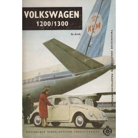 Volkswagen Kever 1200/1300 Technische gegevens en praktische wenken H. Bouvy  Benzine ANWB 68 ongebruikt   Nederlands