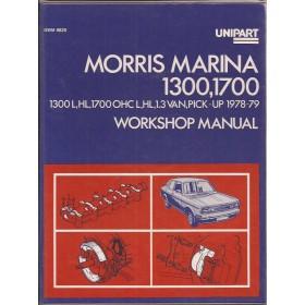 Morris Marina Workshop Manual   Benzine Unipart 78-79 met gebruikssporen   Engels