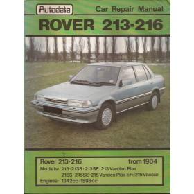 Rover 213/216 Workshop Manual   Benzine Autodata 84-86 met gebruikssporen lichte vochtschade  Engels