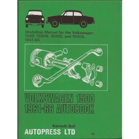 Volkswagen 1500 Workshop Manual K. Ball  Benzine Autopress 61-66 met gebruikssporen   Engels