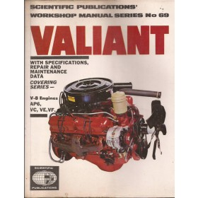 Valiant V8-engines Workshop Manual   Benzine Scientific Publications 70-74 met gebruikssporen   Engels