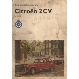Citroen 2CV Zelf sleutelen aan P. Bos  Benzine ANWB 74 met gebruikssporen lelijke kaft vette vingers Nederlands