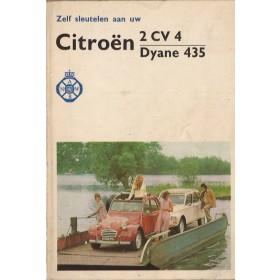 Citroen 2CV4/Dyane Zelf sleutelen aan P. Bos 435cc Benzine ANWB 74 met gebruikssporen geplastificeerde kaft  Nederlands