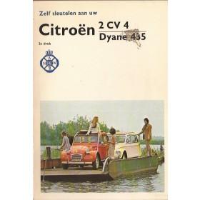Citroen 2CV4/Dyane Zelf sleutelen aan P. Bos 435cc Benzine ANWB 74 met gebruikssporen   Nederlands