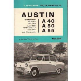 Austin A40/A50/A55 Motor Manual P. Olyslager  Benzine Nelson 54-68 ongebruikt   Engels