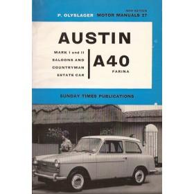 Austin A40 Farina Motor Manual P. Olyslager Mk1/Mk2 Benzine Nelson 58-65 ongebruikt   Engels