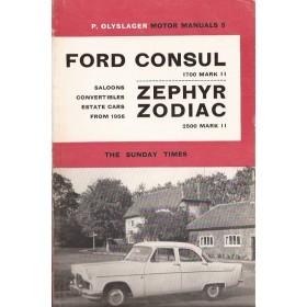 Ford Consul/Zephyr/Zodiac Motor Manual P. Olyslager Mk2 Benzine Nelson 56-61 ongebruikt   Engels