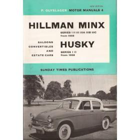 Hillman Minx/Husky Motor Manual P. Olyslager Series 1/2/3 Benzine Nelson 58-65 ongebruikt   Engels
