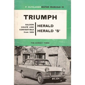 Triumph Herald Motor Manual P. Olyslager  Benzine Nelson 59-62 ongebruikt   Engels