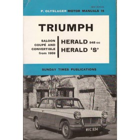 Triumph Herald Motor Manual P. Olyslager  Benzine Nelson 59-65 ongebruikt   Engels
