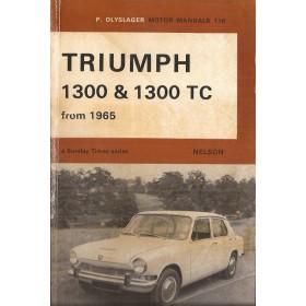 Triumph 1300/TC Motor Manual P. Olyslager  Benzine Nelson 65-68 met gebruikssporen vouw in kaft  Engels