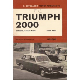 Triumph 2000 Motor Manual P. Olyslager  Benzine Nelson 63-66 ongebruikt met notities  Engels