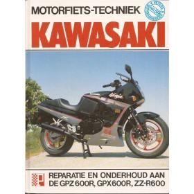 Kawasaki GPZ600R/GPX600R/ZZR600 Peters Motorfiets techniek   Benzine Peters 81 met gebruikssporen   Nederlands