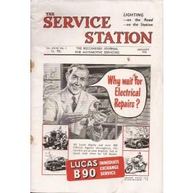 The Service Station, tijdschrift, jan 56, met gebruikssporen, Engels