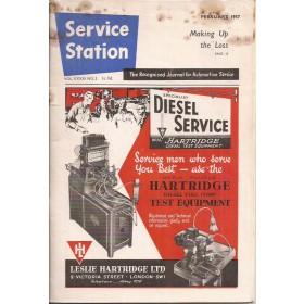 The Service Station, tijdschrift, feb 57, met gebruikssporen, Engels
