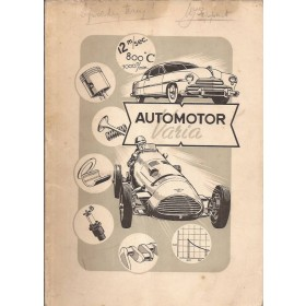 Shell Automotor Varia, overzichtsboek, met gebruikssporen, Nederlands