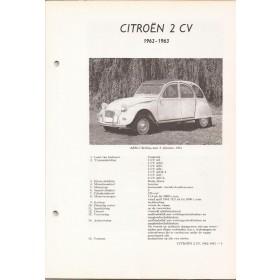 Citroen 2CV Vraagbaak losbladig P. Olyslager  Benzine Kluwer 1962 1963 ongebruikt   Nederlands
