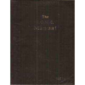 Alle modellen The I.C.M.E. Manual Service interval reparatietijden onderdeelnummers 1977 Palgrave met gebruikssporen Engelstalig