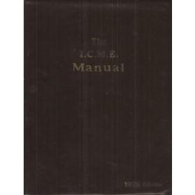 Alle modellen The I.C.M.E. Manual Service interval reparatietijden onderdeelnummers 1978 Palgrave met gebruikssporen Engelstalig