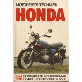 Honda CB400 CB550  Peters Motorfiets techniek Benzine Peters 74-80 met gebruikssporen Nederlands