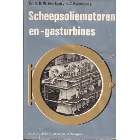Scheepsmotoren en scheepsgasturbines, studieboek, 67, 10de druk, H. van Tijen, met gebruikssporen, Nederlands