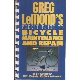 Zakboekje voor de wielrenner, onderhoud en reparatie, studieboek, 90, G. LeMond, Kluwer, met gebruikssporen, Engels
