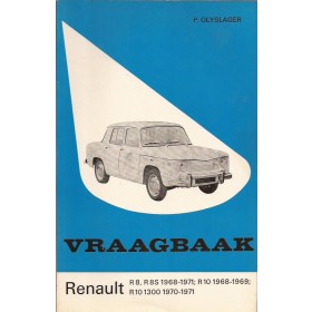 Renault 8/10 Vraagbaak P. Olyslager  Benzine Kluwer 68-71 ongebruikt smal exemplaar  Nederlands