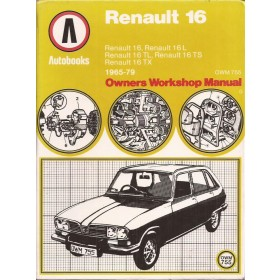 Renault 16 Owners Workshop Manual K. Ball  Benzine Autobooks 65-79 met gebruikssporen Engels