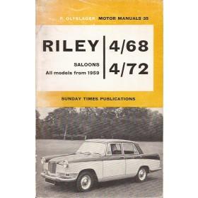 Riley 4/68 4/72 Motor Manual P. Olyslager Benzine Nelson 59-62 met gebruikssporen Engels