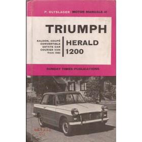 Triumph Herald 1200 Motor Manual P. Olyslager Benzine Nelson 61-62 met gebruikssporen harde kaft ex-bibliotheek Engels