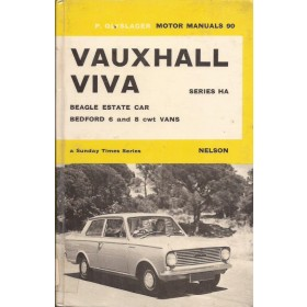 Vauxhall Viva HA Motor Manual P. Olyslager Benzine Nelson 63-66 met gebruikssporen harde kaft ex-bibliotheek Engels