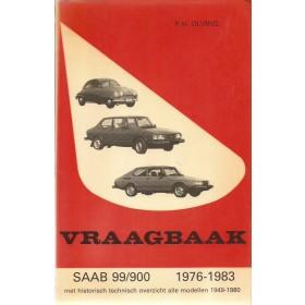 Saab 99/900 Vraagbaak P. Olving  Benzine Kluwer 76-83 met gebruikssporen   Nederlands