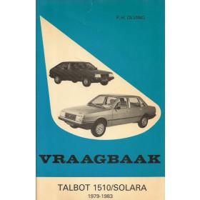 Talbot 1510/Solara Vraagbaak P. Olving  Benzine Kluwer 79-83 ongebruikt   Nederlands
