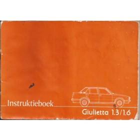 Alfa Romeo Giulletta Instructieboekje   Benzine Fabrikant 78 met gebruikssporen kaft beschadigd  Nederlands