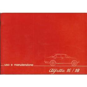 Alfa Romeo Alfetta Instructieboekje   Benzine Fabrikant 77 ongebruikt   Italiaans