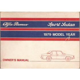 Alfa Romeo Alfetta Instructieboekje   Benzine Fabrikant 79 met gebruikssporen   Engels