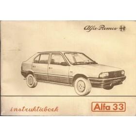 Alfa Romeo 33 Instructieboekje   Benzine Fabrikant 83 met gebruikssporen   Nederlands