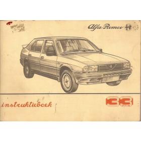 Alfa Romeo 33 Instructieboekje   Benzine Fabrikant 86 met gebruikssporen   Nederlands